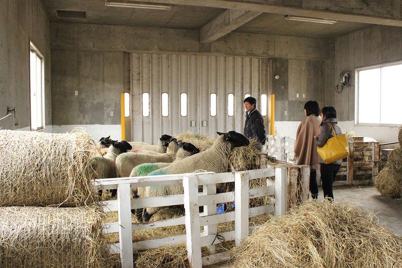 北海道遠別町の遠別農業高を視察。生徒たちが心を込めて作った加工品はふるさと納税のお礼の品になっている。