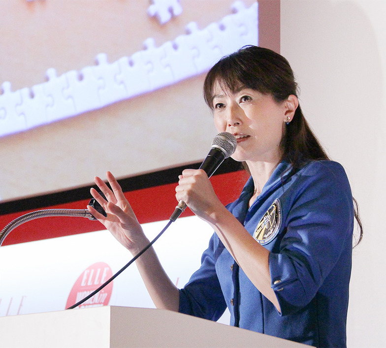 宇宙飛行士の山崎直子さんが登壇