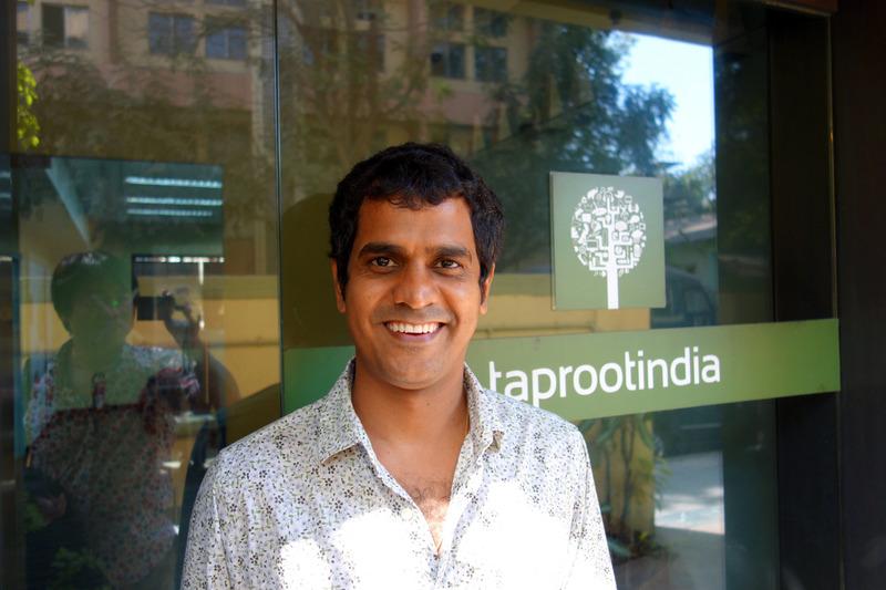 TaprootのPaddyさん。インドで今一番熱いエージェンシー。 弊社と違って、すてきな一戸建てのオフィスでした!