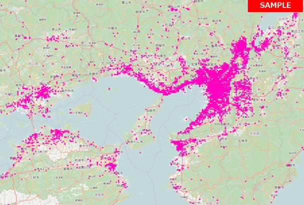 市区町村別の滞在ユーザー数が分析できます。