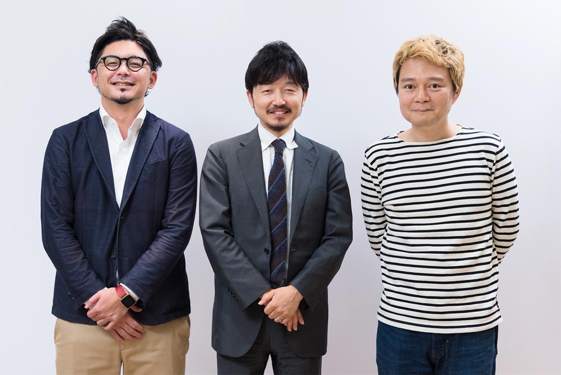 (左から)イノラボの阿部元貴さん、鈴木淳一さん、デイリーポータルZの林雄司編集長