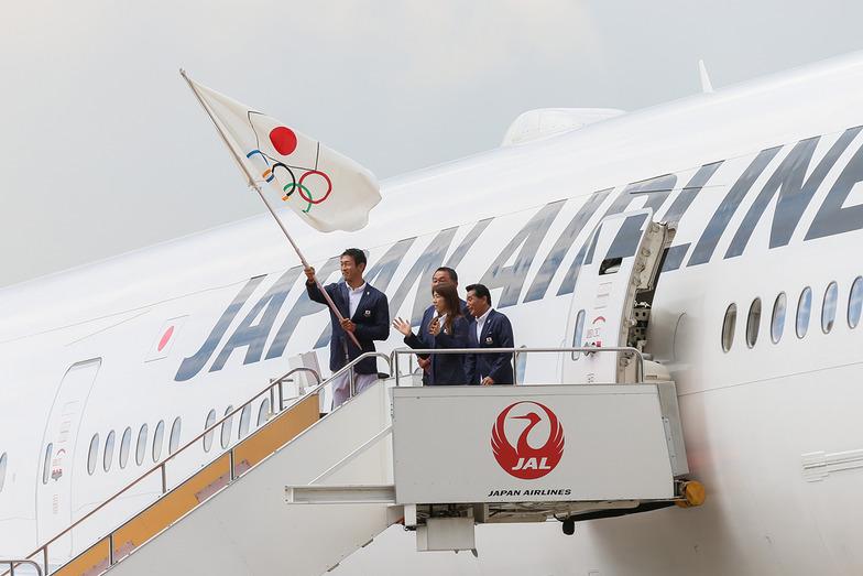 オリンピックフラッグ到着歓迎式