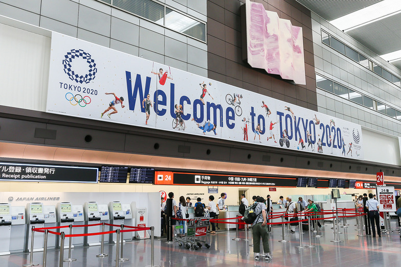 Welcome to TOKYO 2020空港装飾