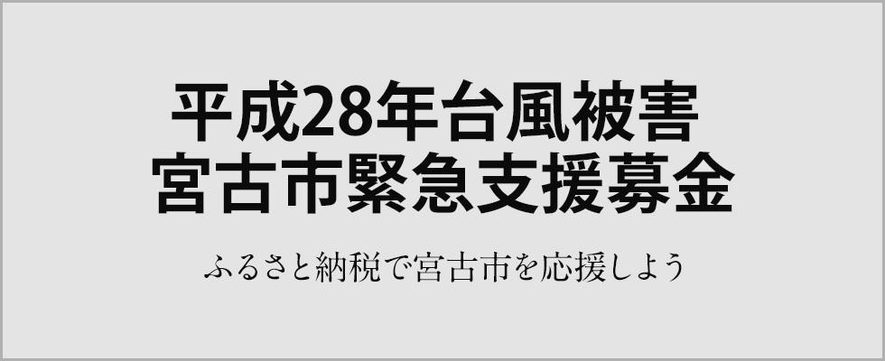 平成28年台風被害 宮古市緊急支援募金