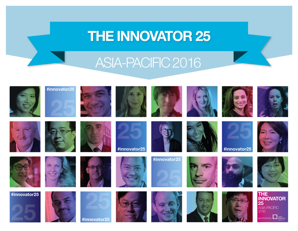 The Innovator 25 Asia-Pacific 2016