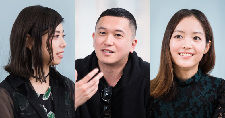<左から>Takahashi U氏、ムラカミカイエ氏、ハヤカワ五味氏