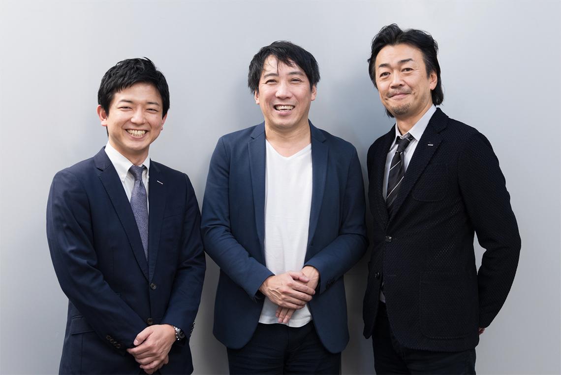 左から、新保泰史氏(電通)、田中謙一郎氏(HAROiD)、春田英明氏(電通)