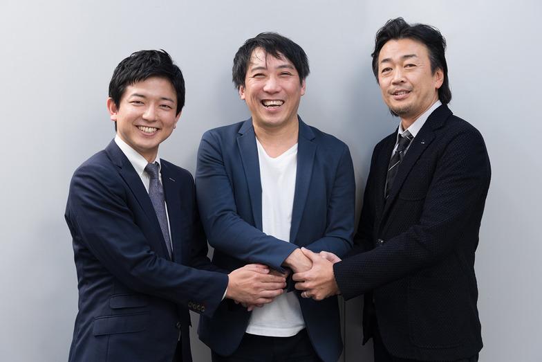 左から、田中謙一郎氏(HAROiD)、新保泰史氏(電通)、春田英明氏(電通)