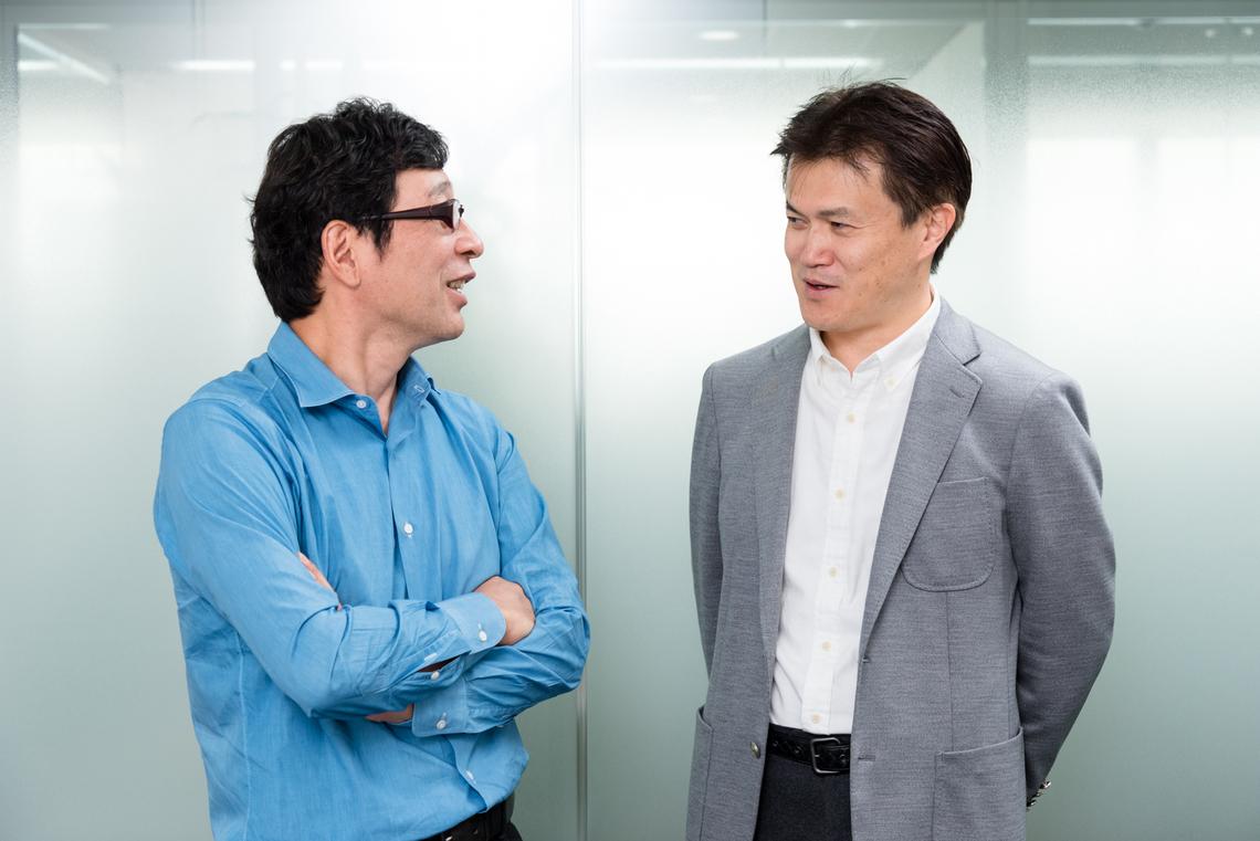 山岸紀寛氏(左)と神野潤一氏(右)