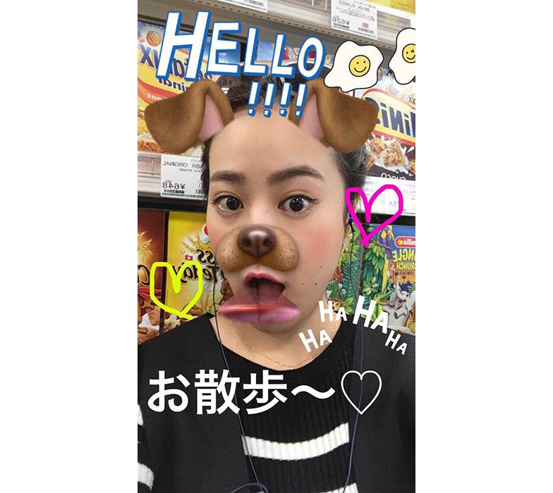 Snapchatで犬になれる動画フィルターを使用