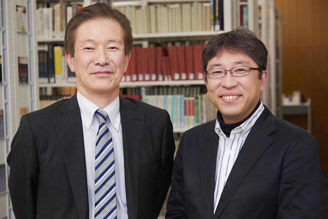 左から、奥律哉氏(電通総研)と、内山隆氏(青山学院大学教授)