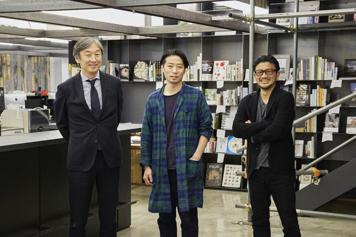 (左から)石阪氏、谷尻氏、天野氏 撮影協力:サポーズデザインオフィス 新東京オフィス