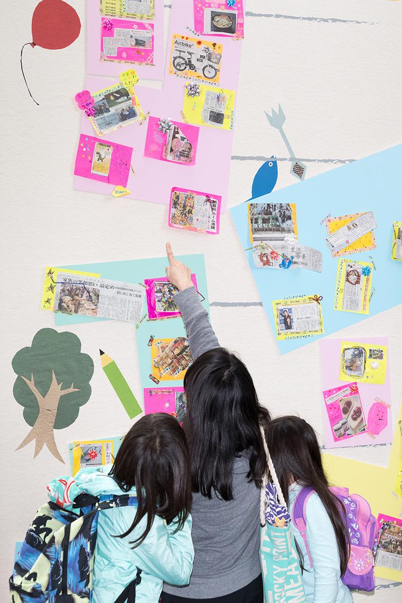 子ども新聞の展示