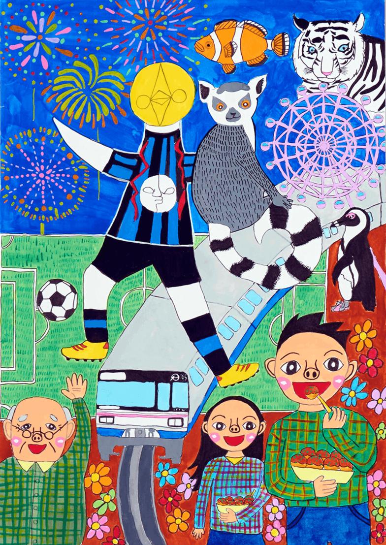「小中学生部門絵画コース」グランプリ 菊地里美さん(吹田市/小3 9歳)