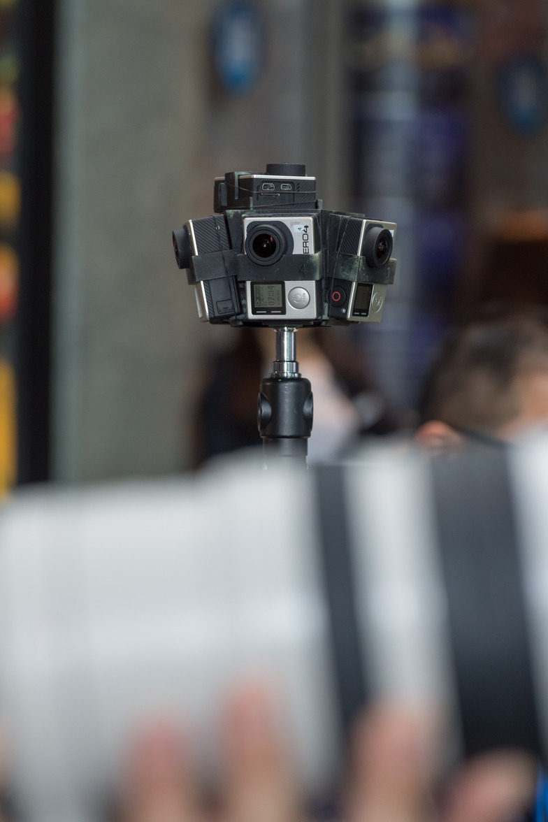 360度撮影に用いられるGoProのカメラ