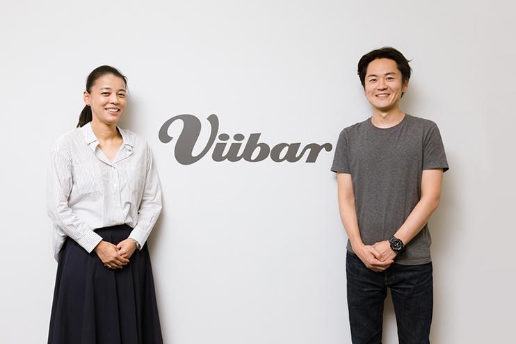 Viibar×電通対談 Viibar上坂優太代表(右)と電通デジタル郡司晶子執行役員(左)