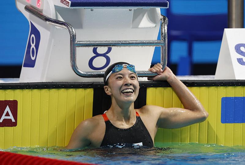 世界水泳」閉幕 日本は9個のメダ...