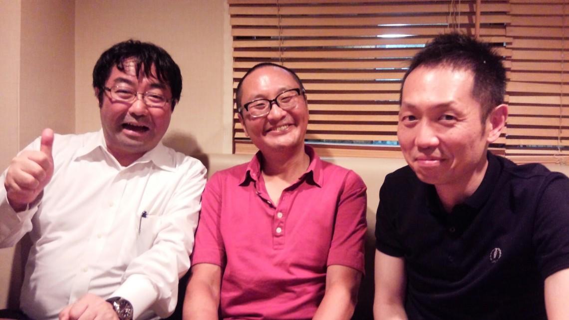右が秋吉先生。左は同じくゼミ仲間の日大、手塚広一郎先生。