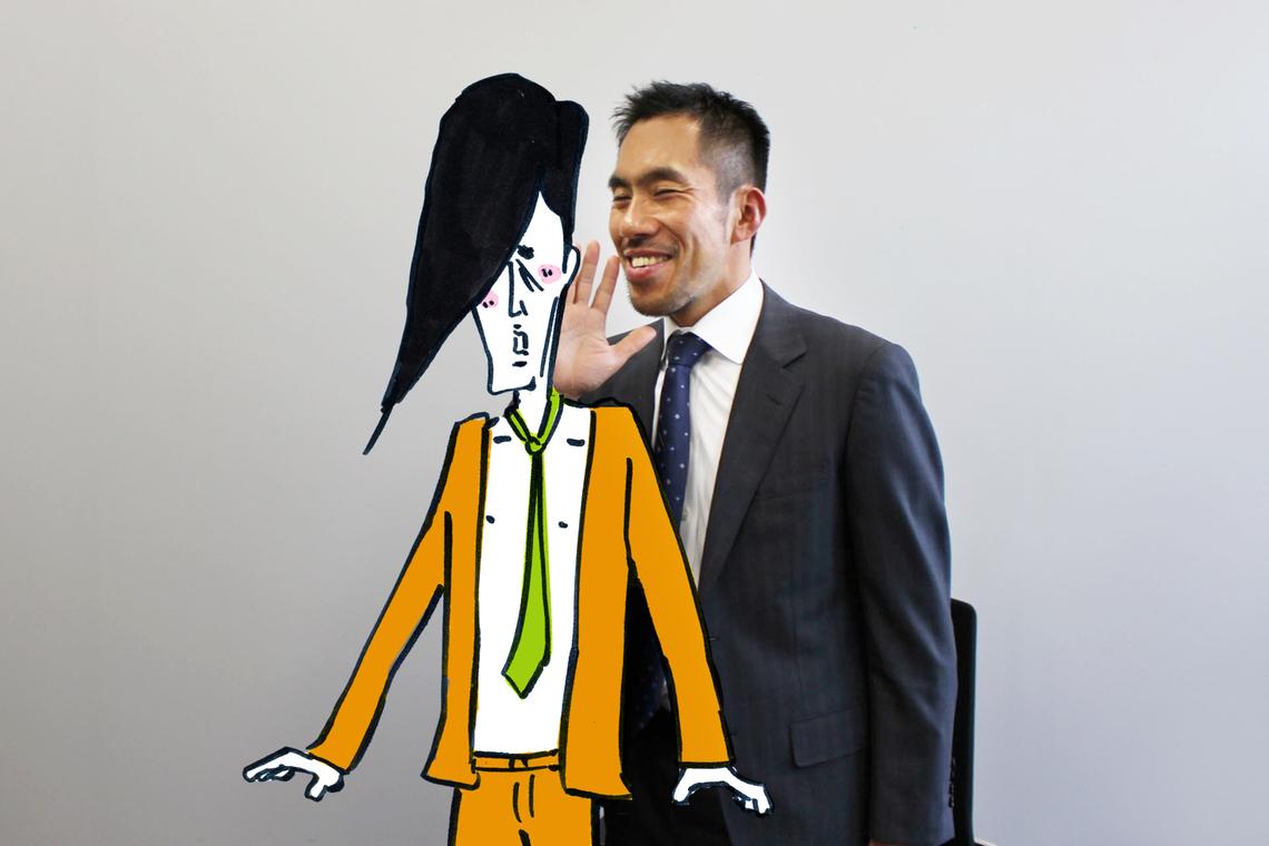 西山氏とキメゾー