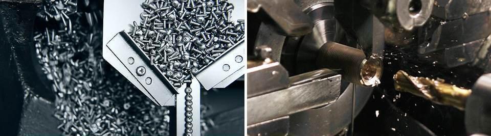 工場の製造過程の様子。浅井製作所(左:撮影は宮川政寛)坂本製作所(右:撮影は井上圭佑)