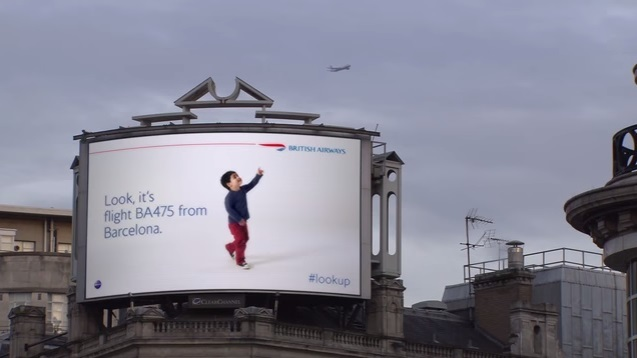 British Airways「 Look Up キャンペーン」