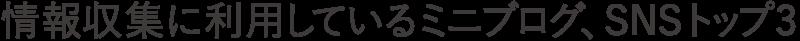 情報収集に利用しているミニブログ、SNSトップ3(タイトル)