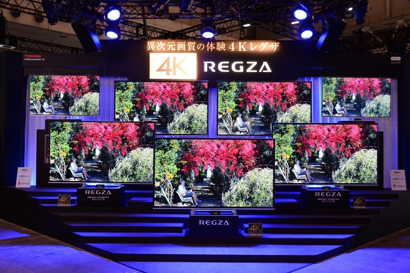 東芝:「4Kレグザ」のコーナーで、ハイクオリティ画面を訴求