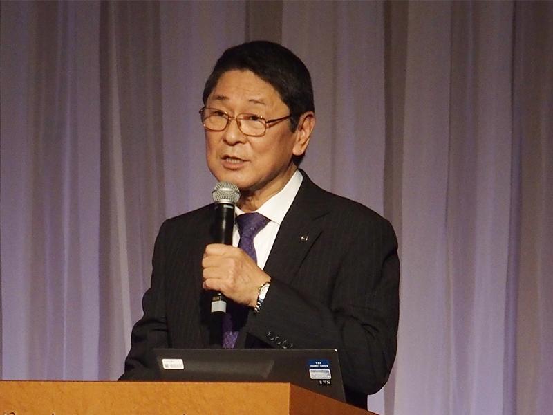 マツダの金井会長による記念講演