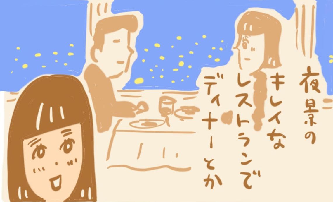 ショーワン10-3 夜景のキレイなレストランでディナーとか