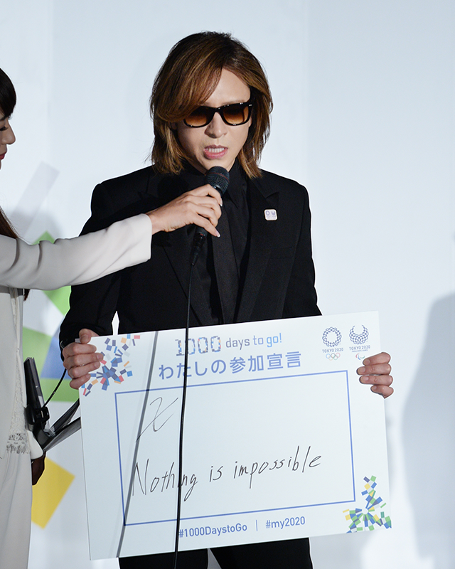 言葉に込めた思いを語るYOSHIKIさん