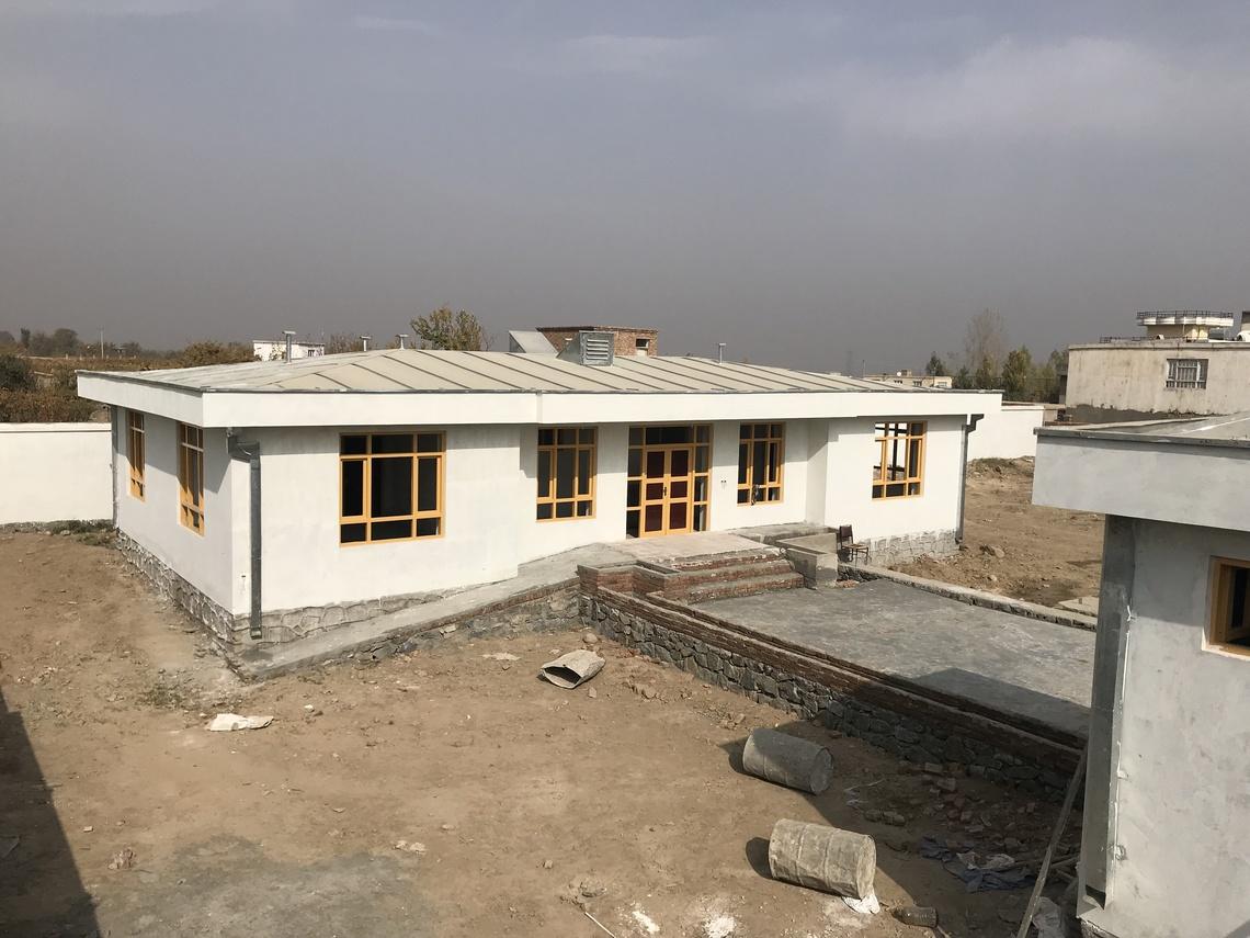 2017年12月に完成したミルバチャコット寺子屋(アフガニスタン)