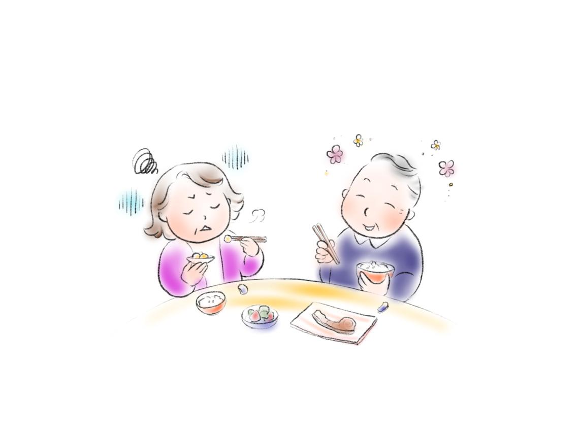 50代以上夫婦の食卓風景