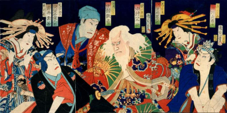 江戸の歌舞伎の錦絵