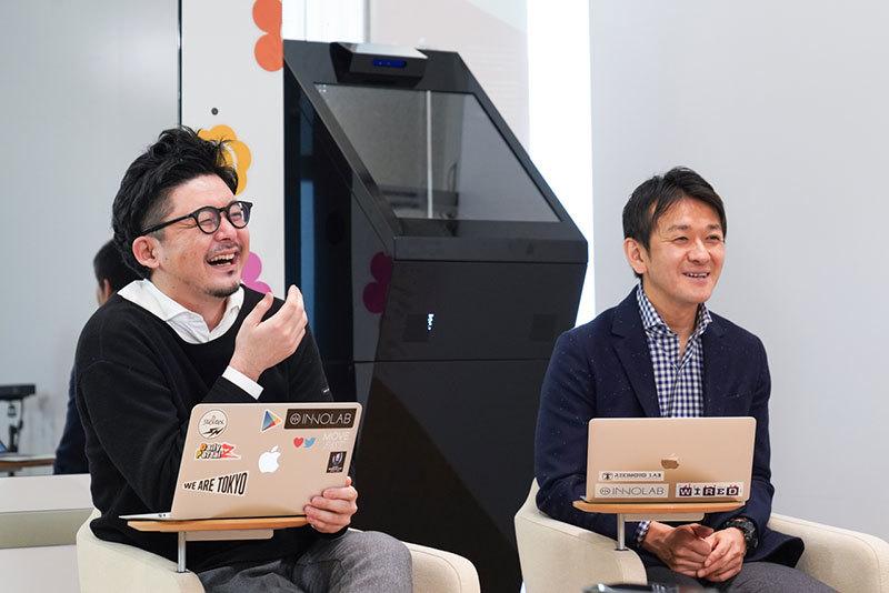 イノラボの阿部元貴さんと森田浩史チーフプロデューサー