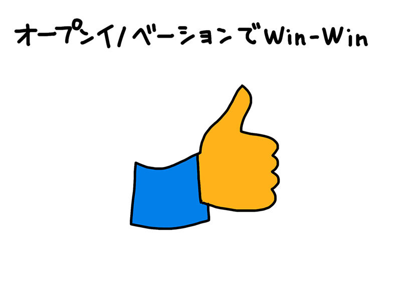オープンイノベーションでWin-Win