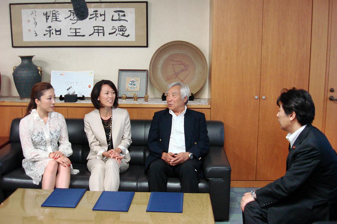 左から、平原綾香さん、有森裕子さん、三浦雄一郎さん