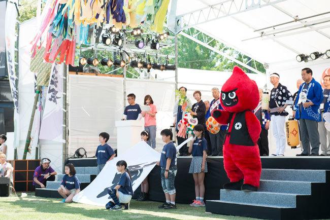 6市長や公式キャラクターのロッくん、地元小学生らが集結した開祭式
