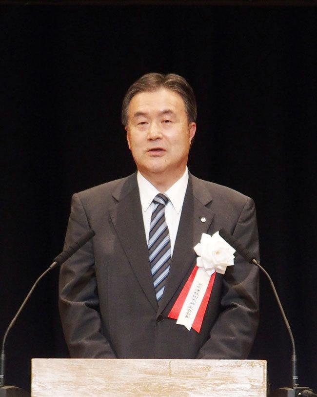 小笠原大会会長の歓迎あいさつ
