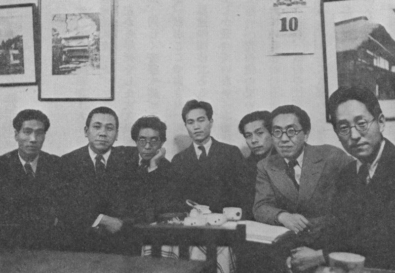 昭和16年1月、報研のメンバーと