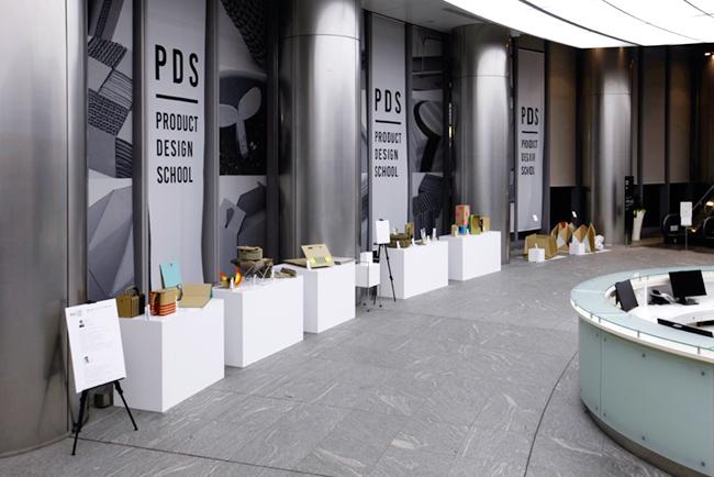 電通本社1階エントランスで展示された、29人の電通クリエーターによるプロダクトアイデア