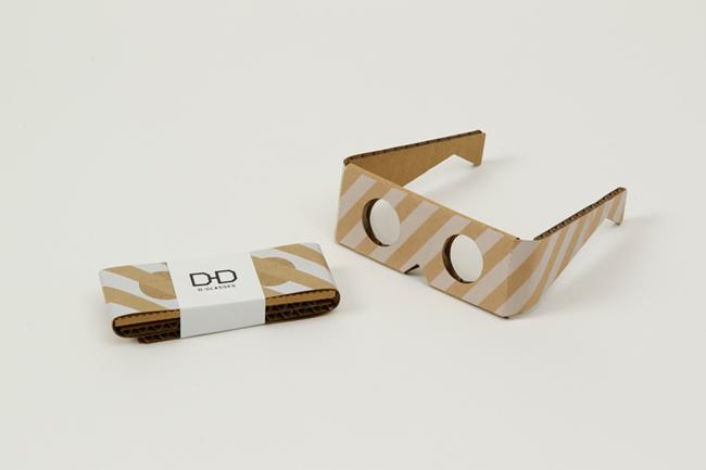 使用済みメガネレンズ入れ「D-GLASSES」/1CRP局・高嶋結―使わなくなったメガネレンズを、災害時などに簡易メガネとして使えるようにデザイン。