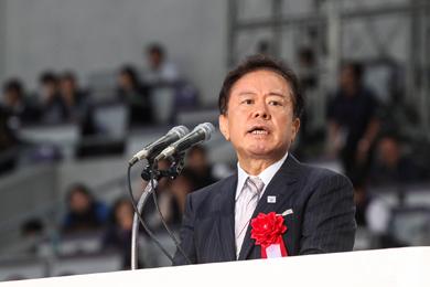 東京都の猪瀬直樹知事が開会宣言