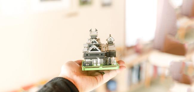 「熊本城組み立て募金」画像