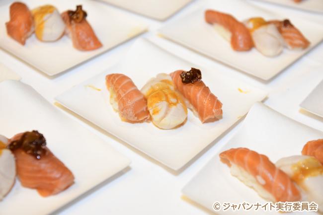 「ジャパンナイト」で振舞われた寿司