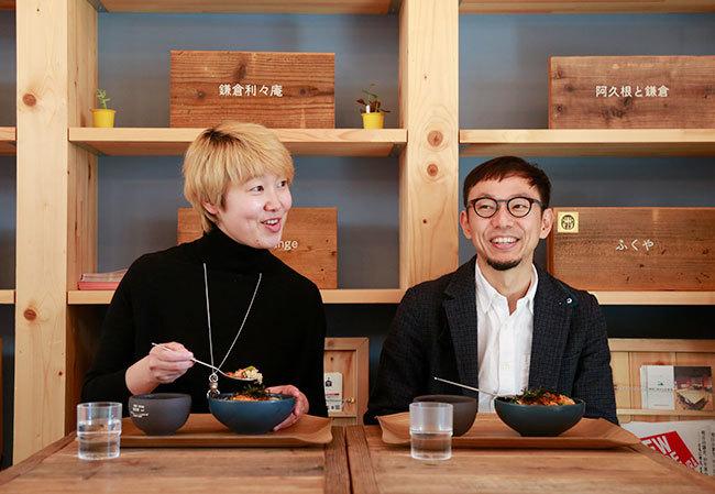 (左から)吉羽優子氏、柳澤大輔氏(面白法人カヤック)