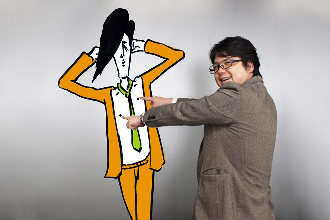 金子氏とキメゾー