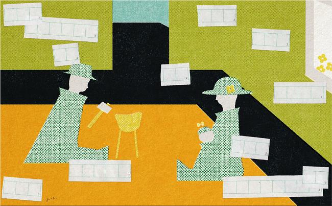 第1回電通塾「育休はひとつの手段だ」イメージイラスト