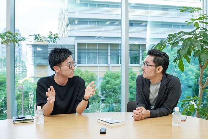 NewsPicks佐々木紀彦氏(右)と電通ソリューション開発センター工藤拓真氏