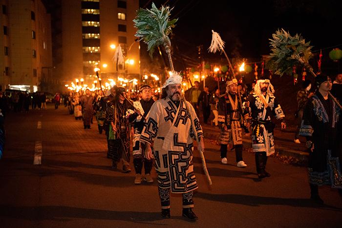 アイヌ民族の祭り風景