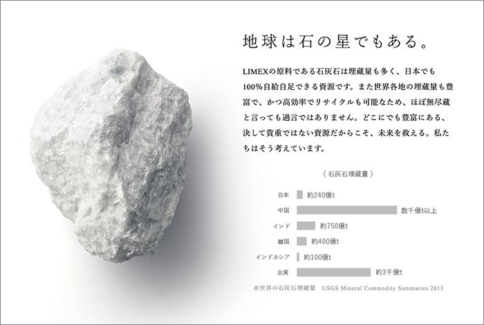 LIMEXのコピー「地球は石の星でもある。」